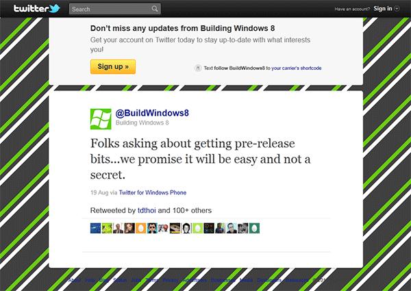 Microsoft: предварительная версия Windows 8 не станет секретом