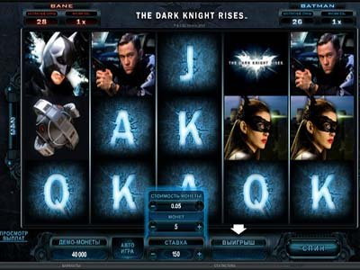 Слот The Dark Knight Rises в казино Сол